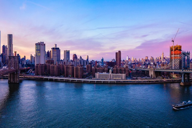 Manhattan Cityscape at Sunset