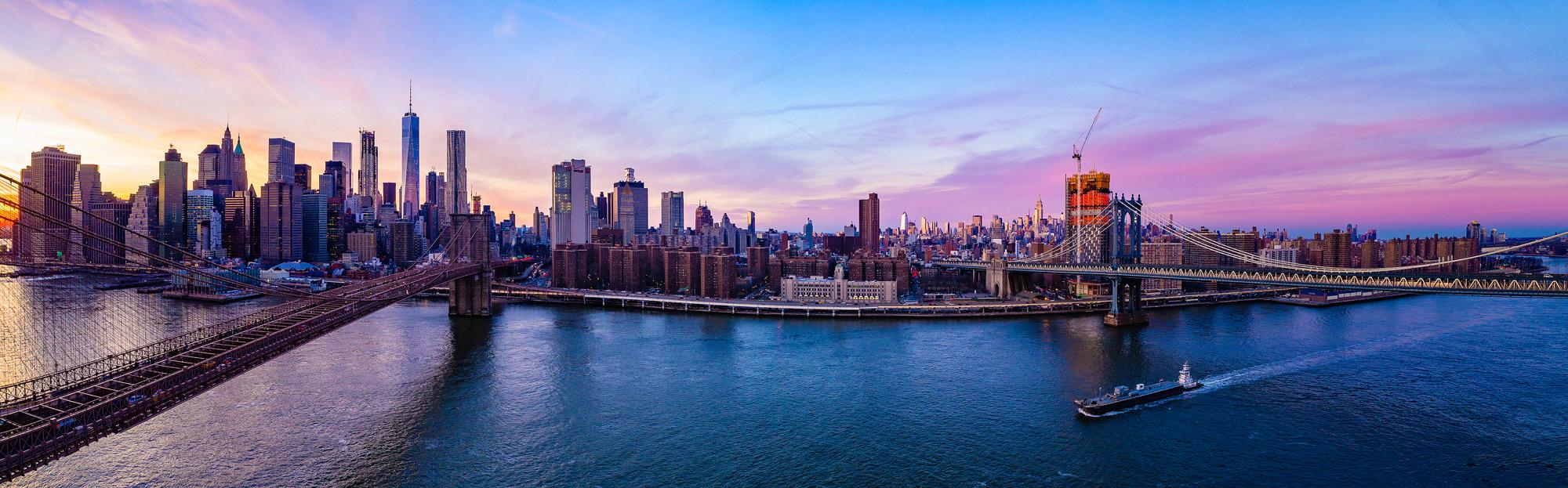 Manhattan Cityscape at Sunset