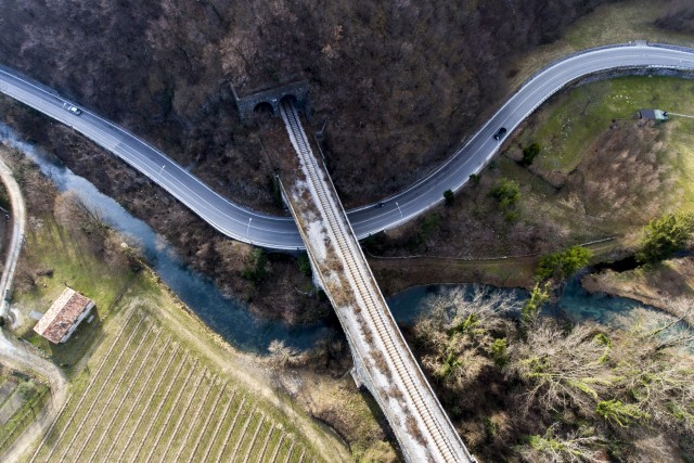 The twelve bridges, Veneto, Italy