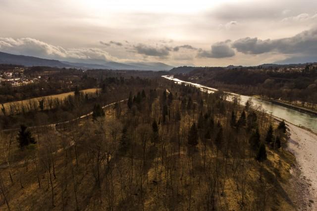 Piave river near Belluno, Veneto, Italy