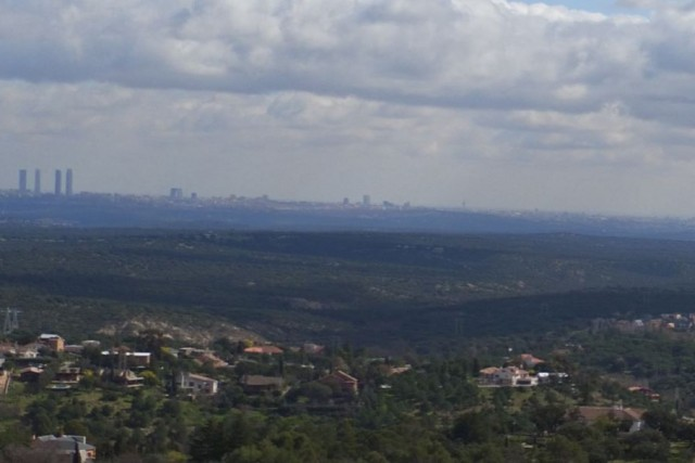 Madrid from the mountains