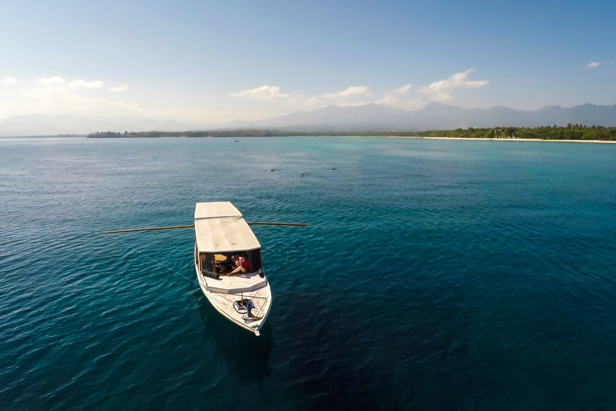 Subwing boat, Gili Islands, Lombok, Indonesia