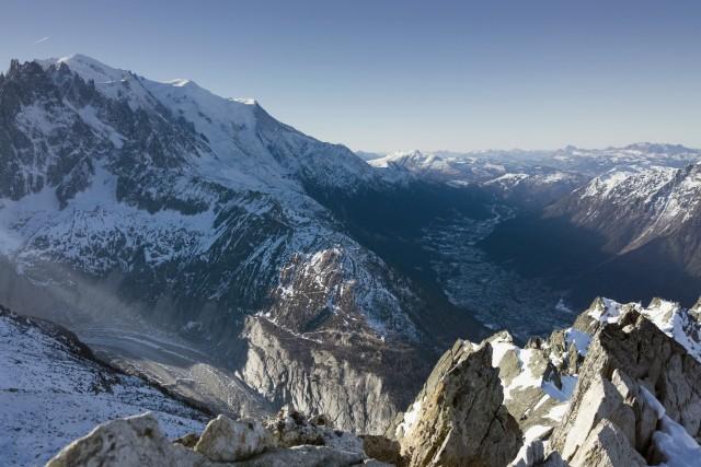Above Chamonix Valley