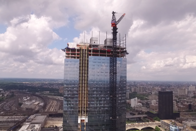 Construction of New Philadelphia Skyscraper