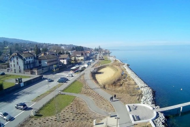 Aerial footage EVIAN LES BAINS