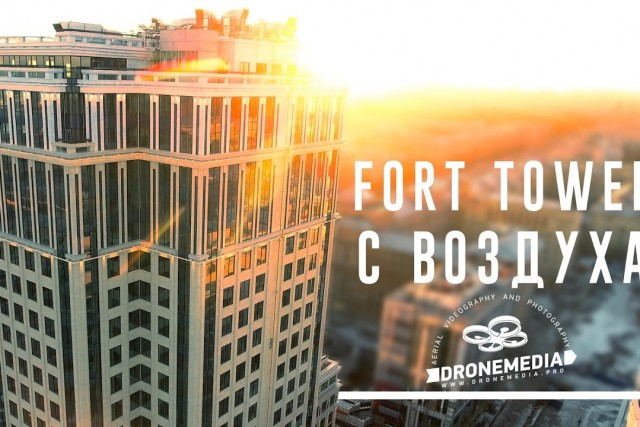 FORT TOWER aerial video. Saint Petersburg, Russian Federation