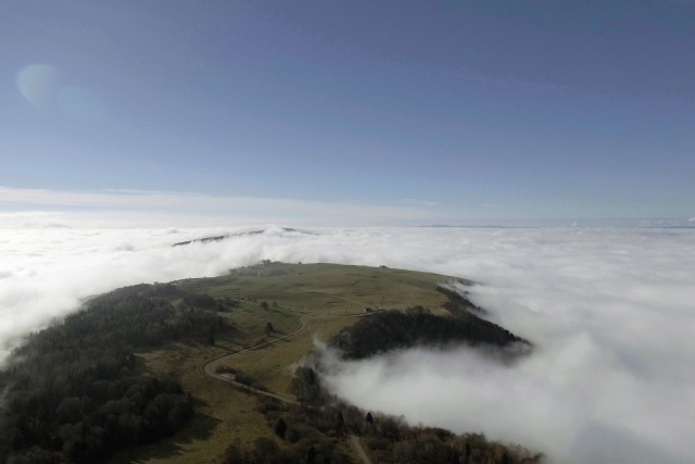 Mont Saleve in Clouds