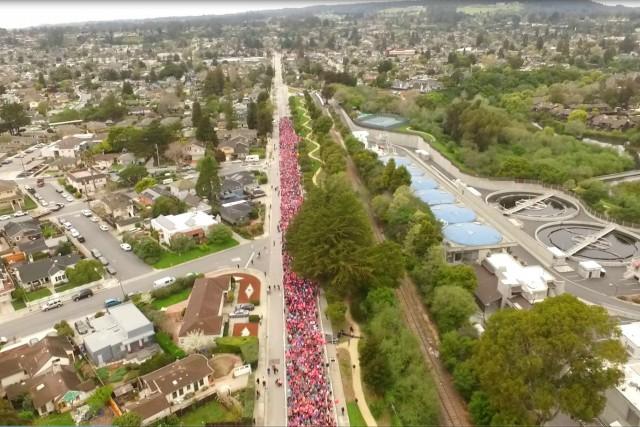 She is Beautiful race, Santa Cruz, California, USA