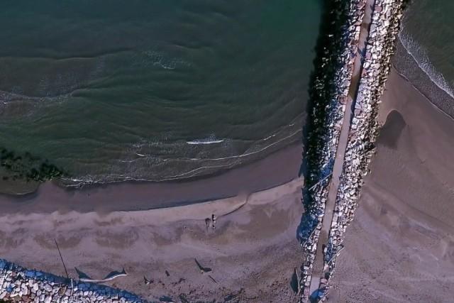 Spiaggia Rosolina, Italia.