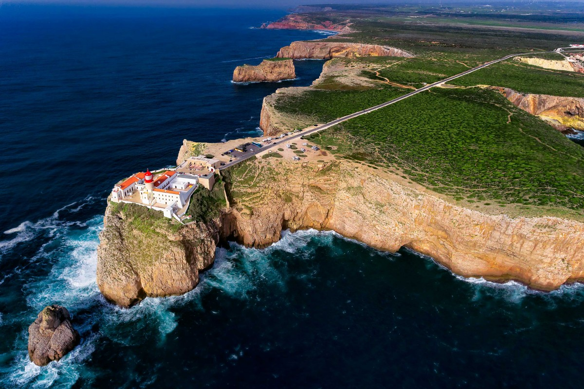 lighthouse of cabo de s o vicente dronestagram. Black Bedroom Furniture Sets. Home Design Ideas