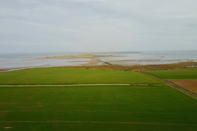 Holy Island from above