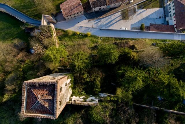 Ancient tower of Collalto, Veneto, Italy