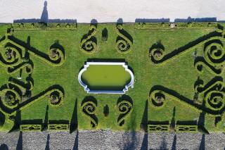 Jardin à la française du château de Gardères Hautes Pyrénées
