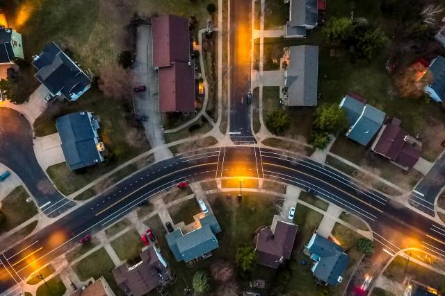 Drone practicing above my neigborhood