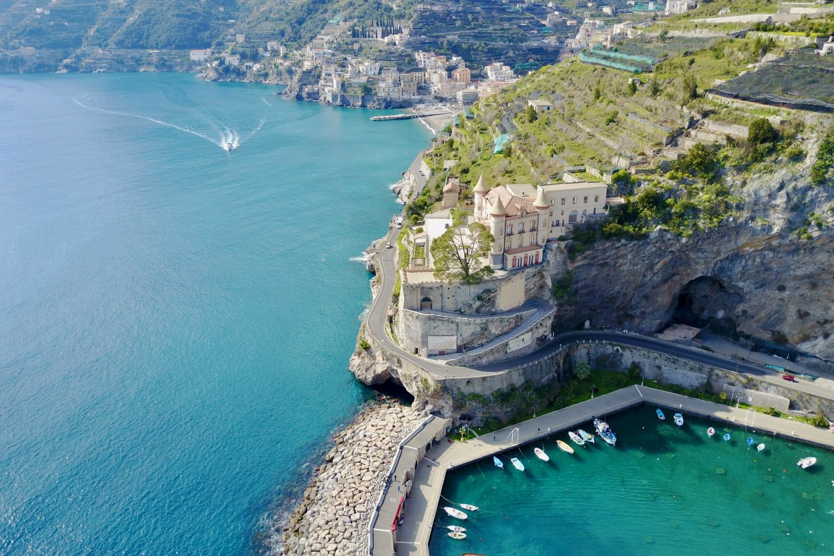 Maiori along the Amalfi Coast, Italy