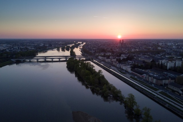 Sunset over Orléans