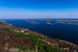 Beautiful view at Dnipro river