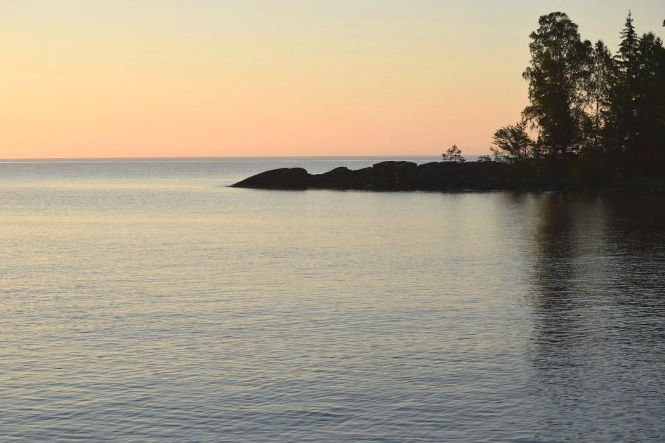 Midnight Sun/Pre-Sunrise over Lake Vaner, Sweden