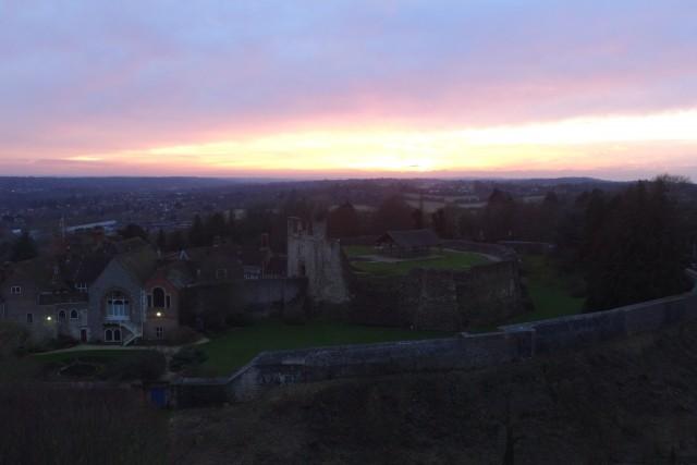 Sunset on Farnham Castle