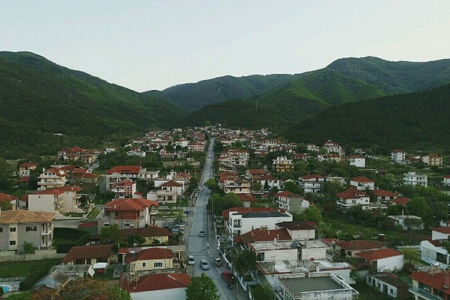 Landscape of Stavros, Greece