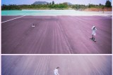 She is skateboarding