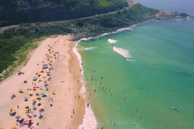 Aerial Images of Prainha beach in Rio de Janeiro