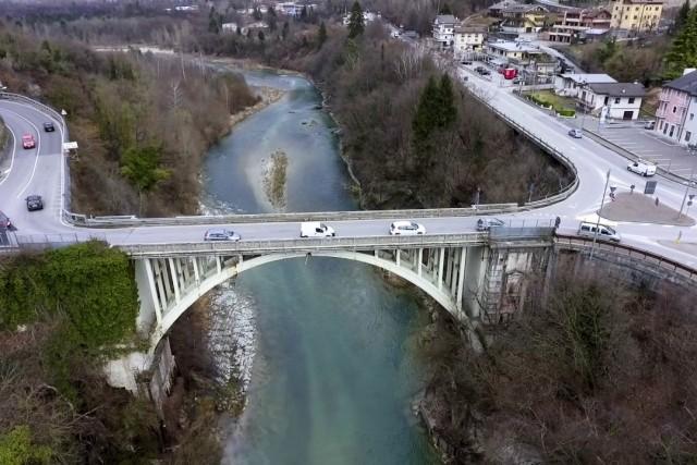 Bridge of Ponte nelle Alpi (Bridge in the Alps), Belluno, Italy