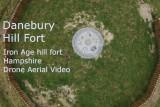 Danebury Hill Fort – Drone Aerial Photography – Landmark Iron Age Site Near Stockbridge, Winchester
