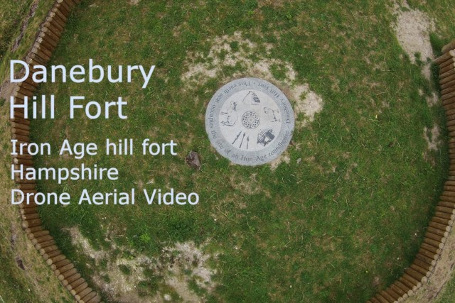 Danebury Hill Fort – Drone Aerial Photography – Landmark Iron Age Site Near Stockbridge, Winchester
