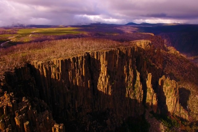 Devils Gullet Cliffs Tasmania.