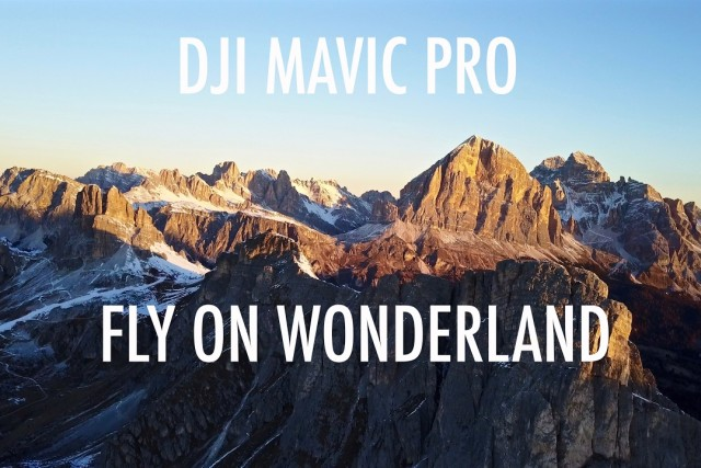 DJI Mavic Pro on dolomites in Winter season.