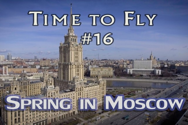 Early spring in Moscow. Aerial Phantom 4 footage. Москва, съемка с квадрокоптера.