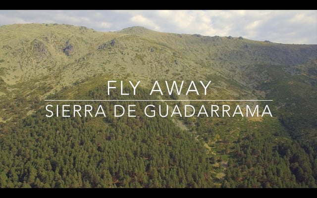 fly away with drone over sierra de guadarrama sobre la sierra de guadarrama con drone. Black Bedroom Furniture Sets. Home Design Ideas