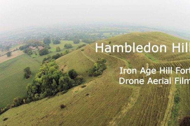 Hambledon Hill Drone Aerial Photography of this Iron Age hill fort in Dorset, England