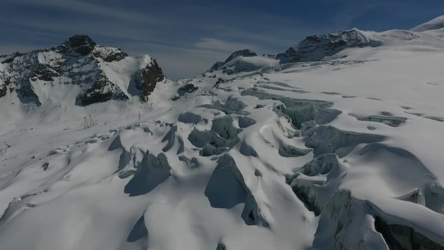 Over the glaciers of Saas-Fee