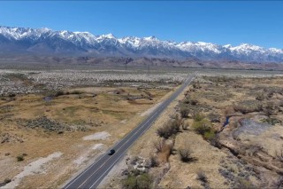 Owens River by drone