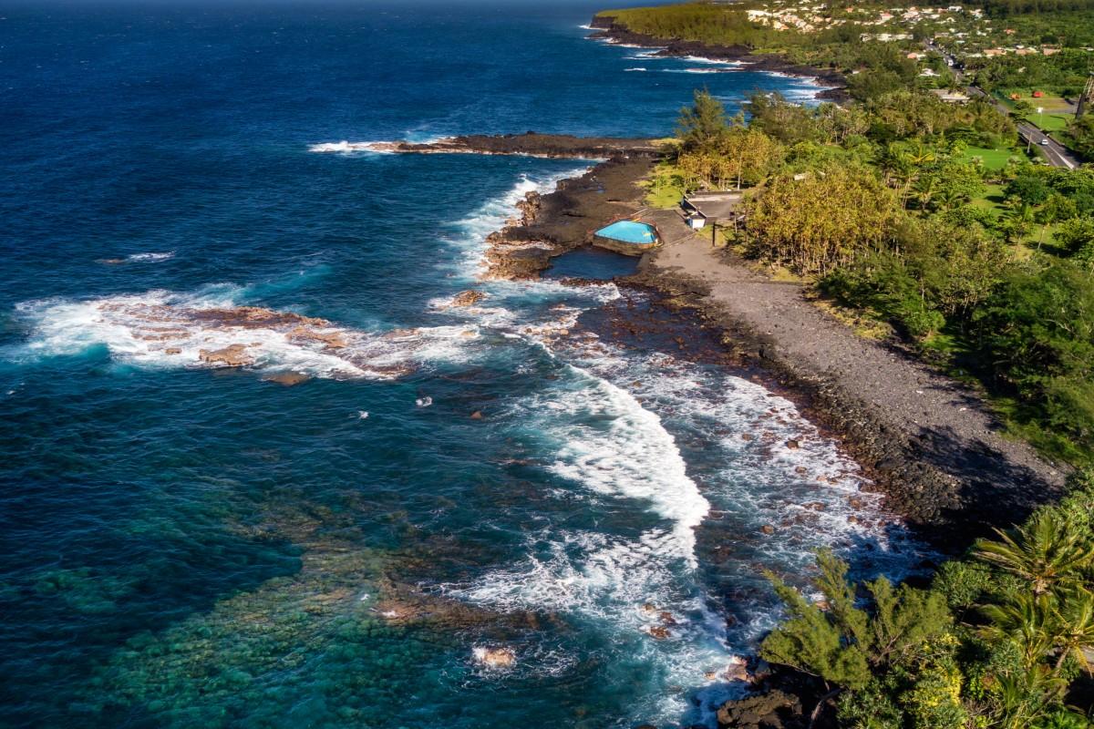 Côte sud sauvage de l'île de la Réunion