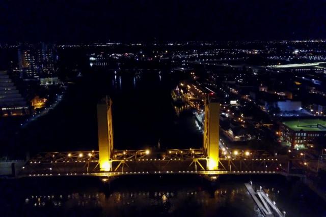 Sacramento Tower Bridge at Night