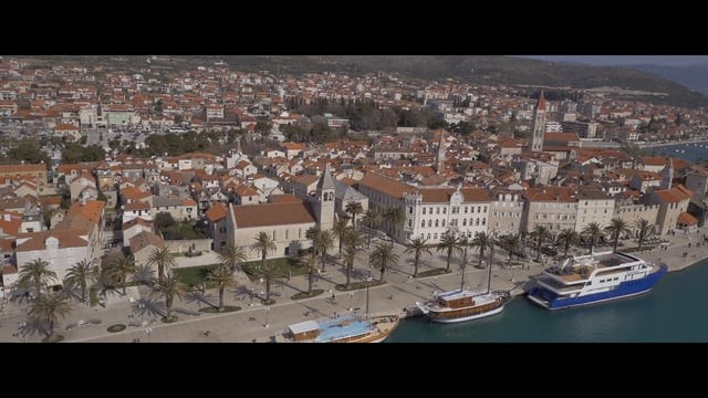 Trogir Old City Aerial