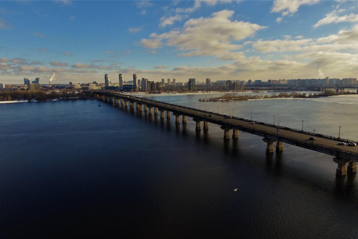 Paton Bridge. Kyiv. Ukraine