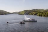 Aerial monitoring during tactical training on Vltava river