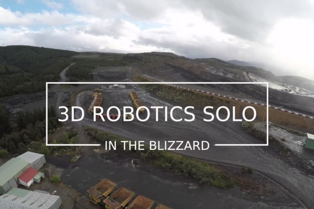 3DR Solo in the Blizzard