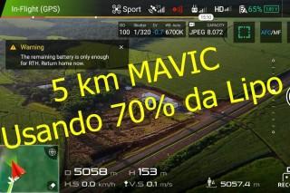 5km usingDJI Mavic