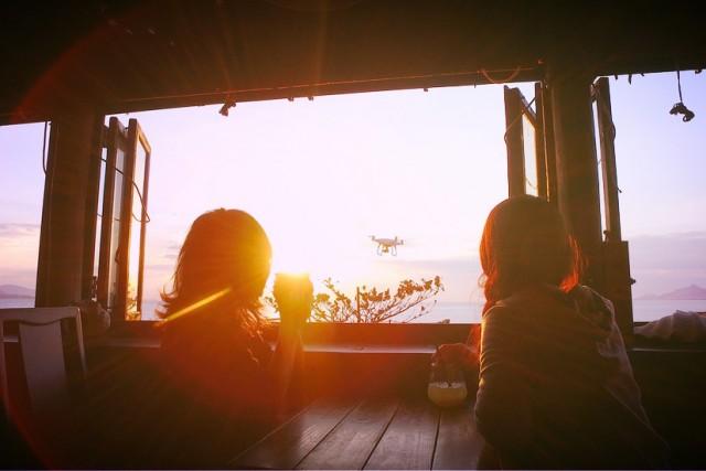 Sunset & PHANTOM4
