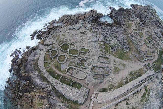 Castro de Baroña, Porto do Son, A Coruña, Spain