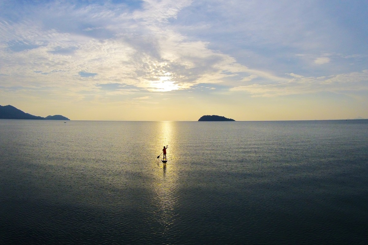 Paddleboarder in the Andaman Sea