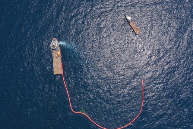 Oil spill control ships