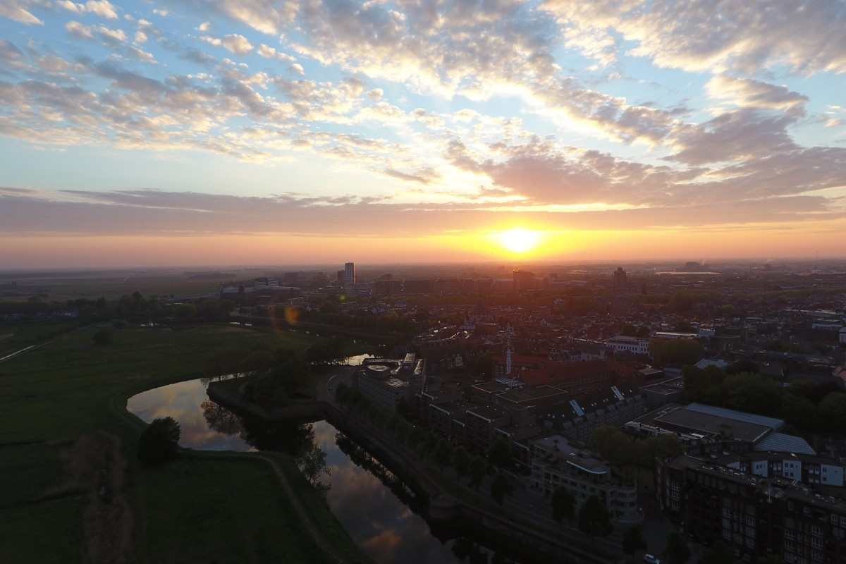 Sunset over 's-Hertogenbosch (The Netherlands)