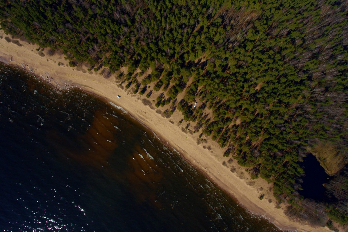 400 meters above Gulf of Finland