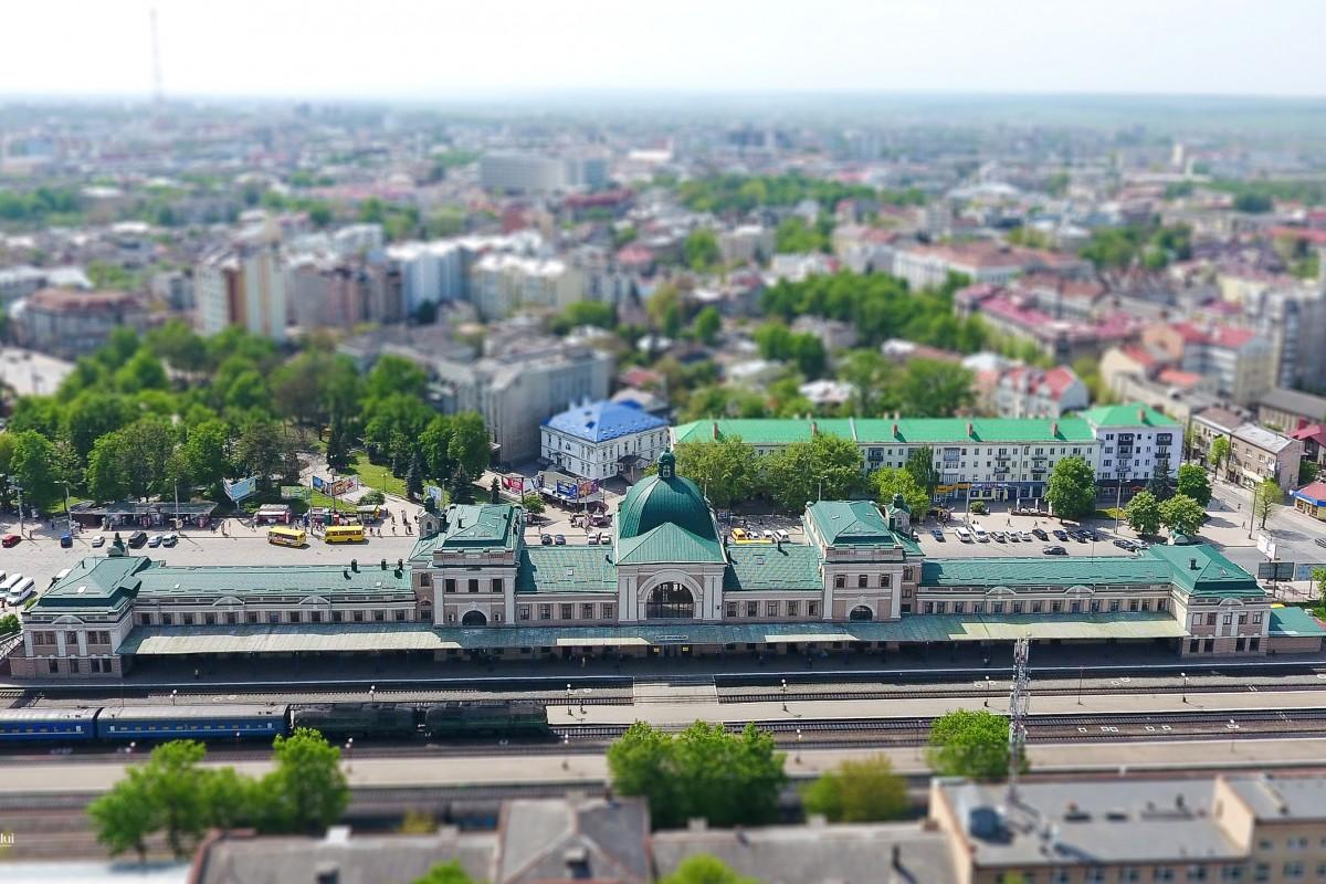 railway station ukraine ivano-frankivsk